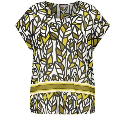 Samoon Blusenshirt mit Zitronenblätter-Druck (gelb   44) Für Damen, Für Damenmode, Shirts, T-Shirts