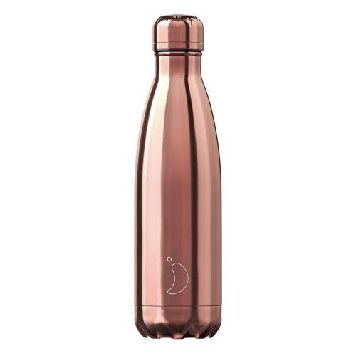 Chilly's Trinkflasche Chilly´s Roségold (500 ml) Für Damen, Accessoires Trinkflaschen