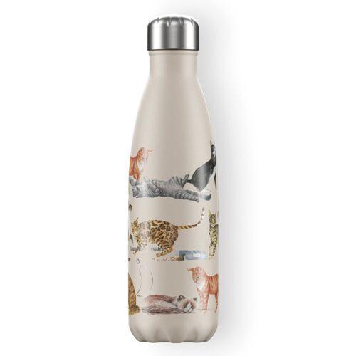 Chilly's Trinkflasche Chilly´s mit Katzen (500 ml) Für Damen, Accessoires Trinkflaschen