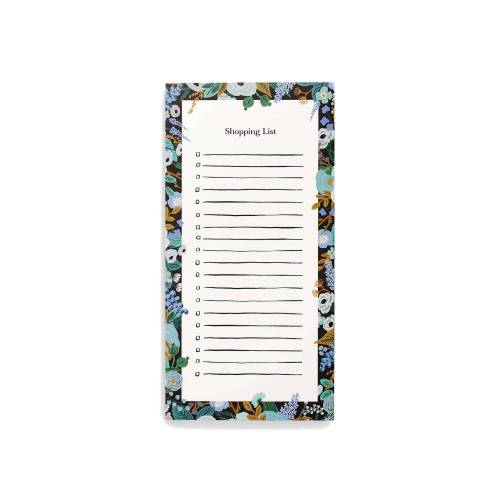 Rifle Paper Garden Party Blue Einkaufsliste (schwarz   EHG) Geschenke, Papeterie