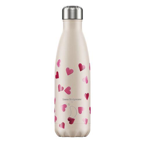 Chilly's Trinkflasche Chilly´s mit Herzen (500 ml) Für Damen, Accessoires Trinkflaschen