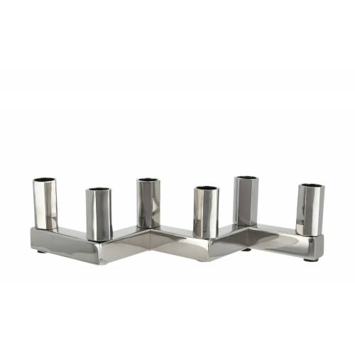 Möbel Kraft 6er Kerzenständer - silber - Stahl - Dekoration  Kerzen & Lichter  Kerzenständer - Möbel Kraft