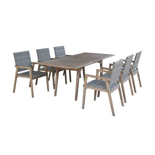 Möbel Kraft Dining-Set    Milage - grau - Garten  Balkonmöbel  Balkonmöbel Sets - Möbel Kraft
