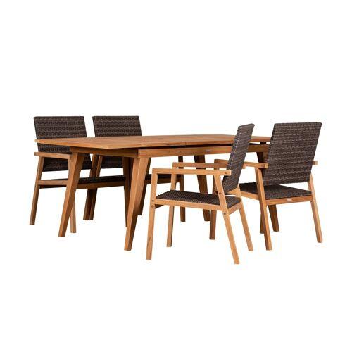 Möbel Kraft Garten-Diningset - braun - Garten  Balkonmöbel  Balkonmöbel Sets - Möbel Kraft