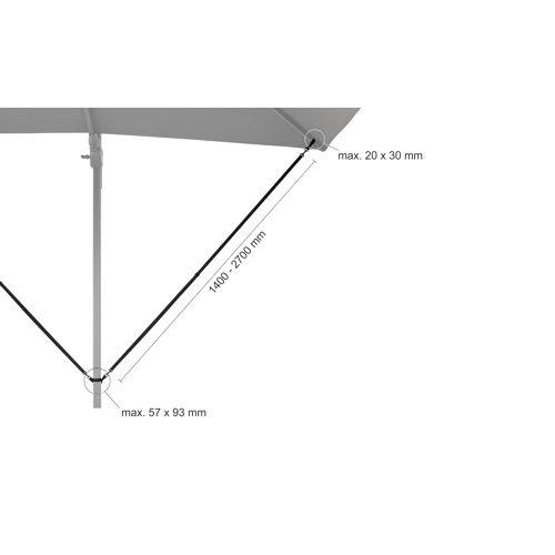 Möbel Kraft Ampelschirm-Windsicherung - schwarz - Garten  Sonnenschutz  Schirmständer - Möbel Kraft