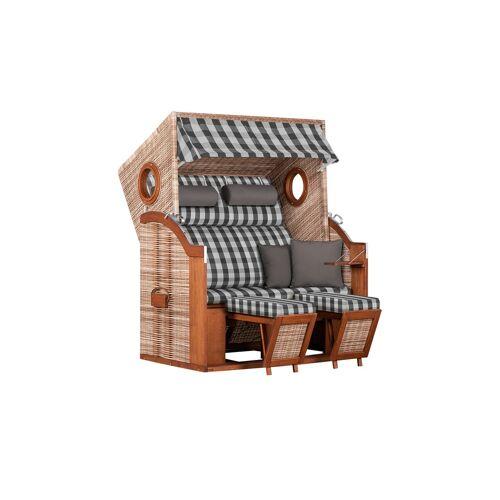 Möbel Kraft Strandkorb - holzfarben - Garten  Garten Lounge-Möbel  Strandkörbe - Möbel Kraft