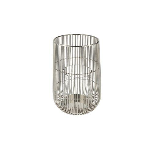Möbel Kraft Windlicht - silber - Stahl, Glas - Weihnachtsgeschenke  Geschenke für Sie - Möbel Kraft