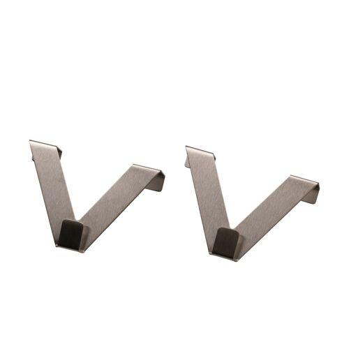 Möbel Kraft Fensterhaken für Raffrollos - silber - Metall - Gardinen & Vorhänge  Gardinenstangen & Zubehör  Gardinenzubehör - Möbel Kraft