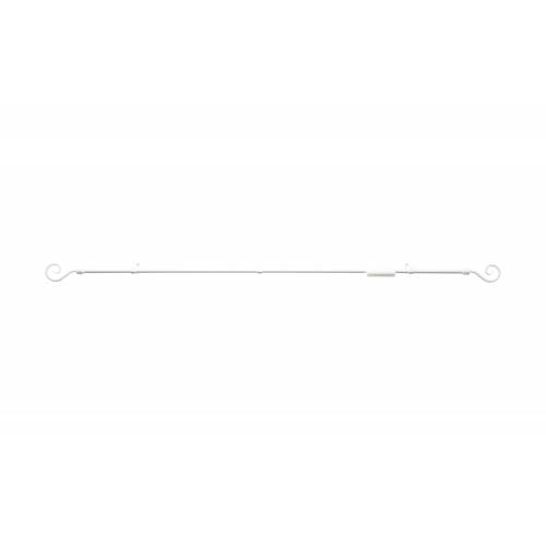 Möbel Kraft Gardinenstange  Curl - weiß - Metall - Gardinen & Vorhänge  Gardinenstangen & Zubehör  Gardinenstangen - Möbel Kraft