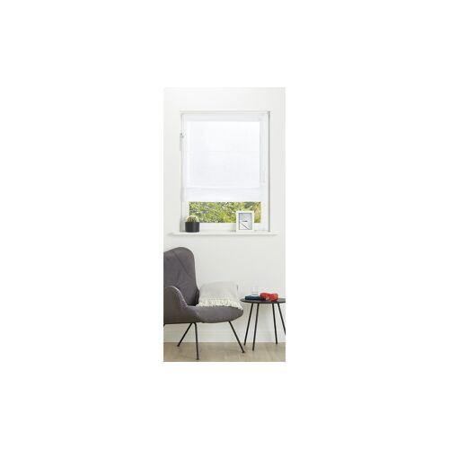 Möbel Kraft Verspanntes Raffrollo  Brondby - weiß - 100% Polyester - Gardinen & Vorhänge  Rollos & Sonnenschutz  Rollos - Möbel Kraft