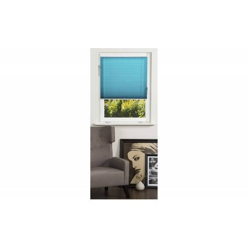 KHG Plissee Klemmfix - blau - Polyester - Gardinen & Vorhänge  Rollos & Sonnenschutz  Plissees - Möbel Kraft