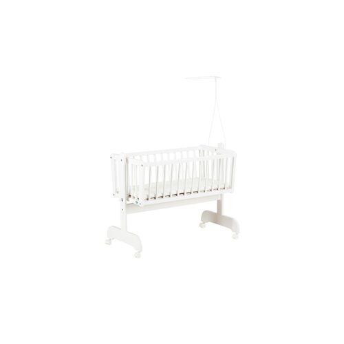 Alvi Wiege   Sina weiß - weiß - Baby  Babymöbel  Babybetten - Möbel Kraft