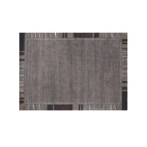 Möbel Kraft Handgeknüpfter Naturteppich - grau - Wolle - Teppiche  Wohnteppiche  Naturteppiche - Möbel Kraft