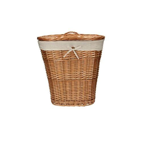 Möbel Kraft Wäschekorb mit Deckel - braun - Weide, Leinen - Aufbewahrung  Wäscheaufbewahrung - Möbel Kraft