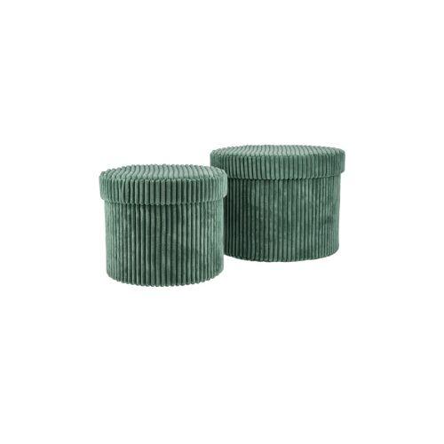 Möbel Kraft Aufbewahrungsbox, 2er-Set - grün - Karton - Aufbewahrung  Körbe - Möbel Kraft