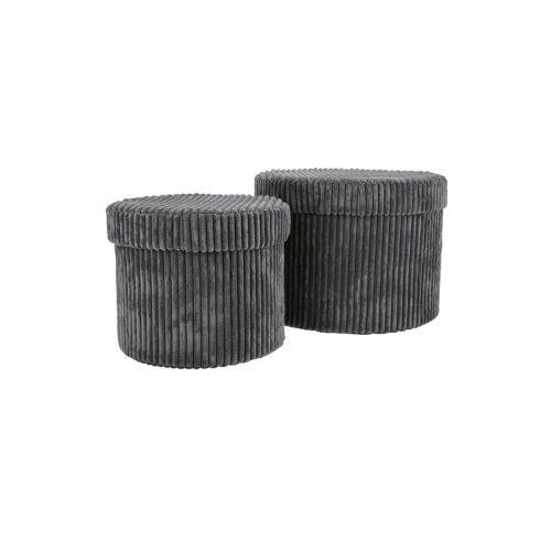 Möbel Kraft Aufbewahrungsbox, 2er-Set - grau - Karton - Aufbewahrung  Körbe - Möbel Kraft