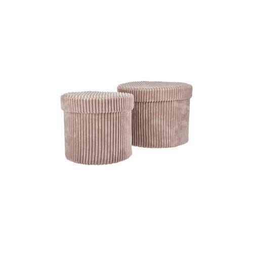 Möbel Kraft Aufbewahrungsbox, 2er-Set - rosa/pink - Karton - Aufbewahrung  Körbe - Möbel Kraft