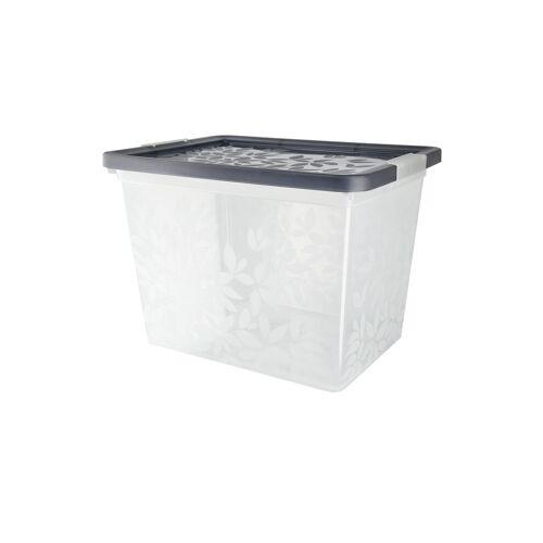 Möbel Kraft Aufbewahrungsbox mit Deckel - grau - Kunststoff - Aufbewahrung  Aufbewahrungsboxen - Möbel Kraft