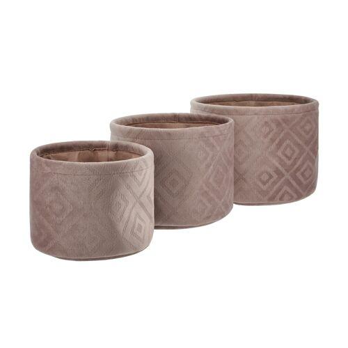 Möbel Kraft Aufbewahrungskörbe, 3er-Set - rosa/pink - Samt - Aufbewahrung  Körbe - Möbel Kraft