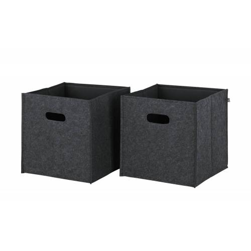 smart Aufbewahrungskorb, 2er-Set  Up2U - grau - Filz - Aufbewahrung  Aufbewahrungsboxen - Möbel Kraft