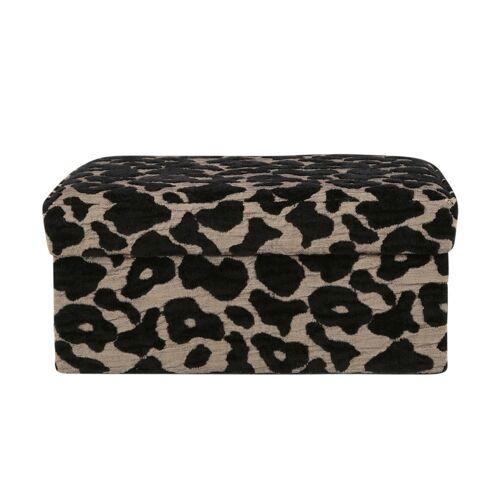 Möbel Kraft Aufbewahrungsbox - schwarz - Samt, MDF - Aufbewahrung  Körbe - Möbel Kraft