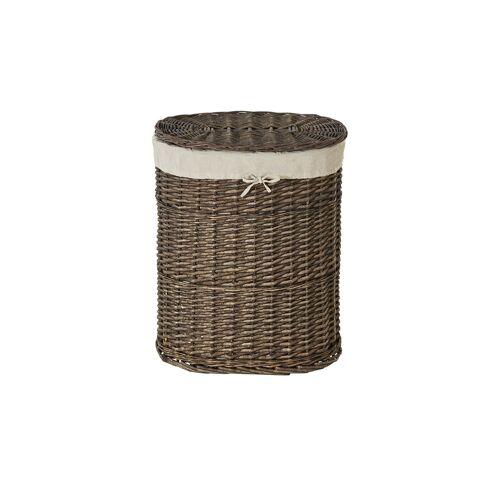 Möbel Kraft Wäschekorb - braun - Leinen, Weide - Aufbewahrung  Wäscheaufbewahrung - Möbel Kraft