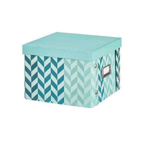 Möbel Kraft Pappbox  Arrow Aqua - türkis/petrol - Metall, Pappe - Aufbewahrung  Aufbewahrungsboxen - Möbel Kraft