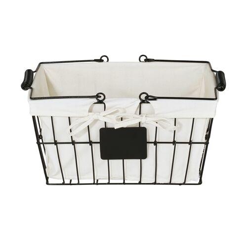 Möbel Kraft Aufbewahrungskorb - creme - Metall, Polyester - Aufbewahrung  Aufbewahrungsboxen - Möbel Kraft