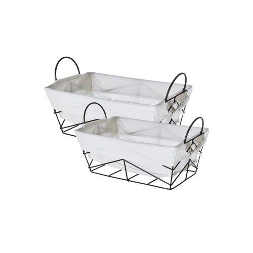 Möbel Kraft Aufbewahrungskorb, 2er-Set - schwarz - Metall, Polyester - Aufbewahrung  Körbe - Möbel Kraft