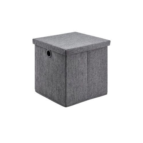 Möbel Kraft Aufbewahrungsbox - grau - Polyester, Pappe - Aufbewahrung  Aufbewahrungsboxen - Möbel Kraft