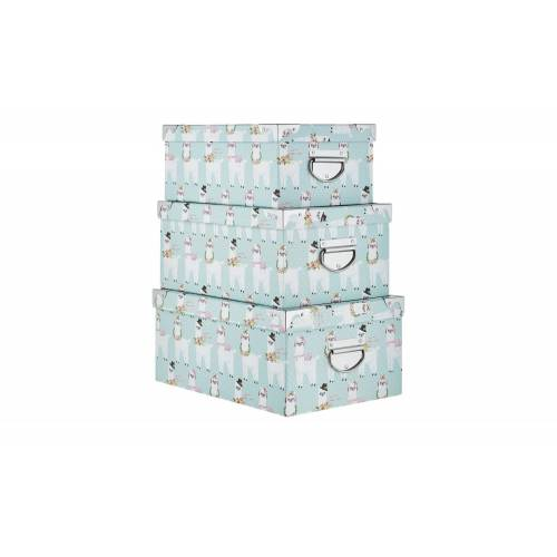 Möbel Kraft Aufbewahrungsboxen, 3er-Set   Alpaka - mehrfarbig - Papier, Metall - Aufbewahrung  Aufbewahrungsboxen - Möbel Kraft