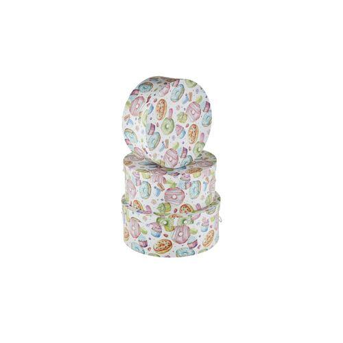 Möbel Kraft Aufbewahrungsboxen, 3er-Set - mehrfarbig - Polyester, Papier, Kunststoff - Aufbewahrung  Aufbewahrungsboxen - Möbel Kraft
