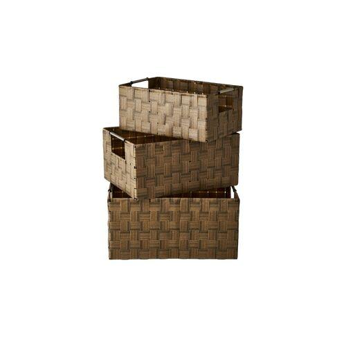 Möbel Kraft Aufbewahrungskörbe, 3er-Set - braun - Metall, Kunststoff - Aufbewahrung  Körbe - Möbel Kraft