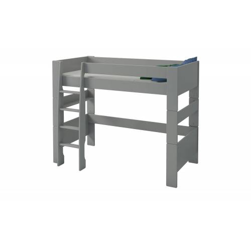 Möbel Kraft Hochbett - grau - Kindermöbel  Kinderbetten  Hochbetten - Möbel Kraft