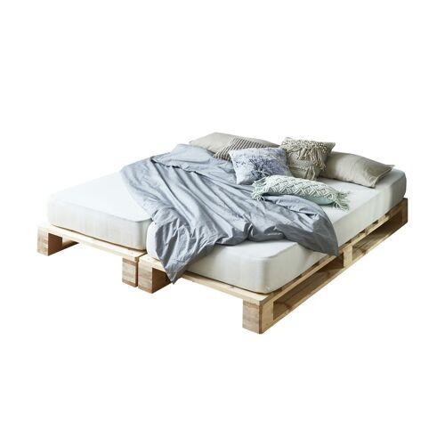 Möbel Kraft Palettenbett mit Matratze - holzfarben - Betten  Bettgestelle - Möbel Kraft