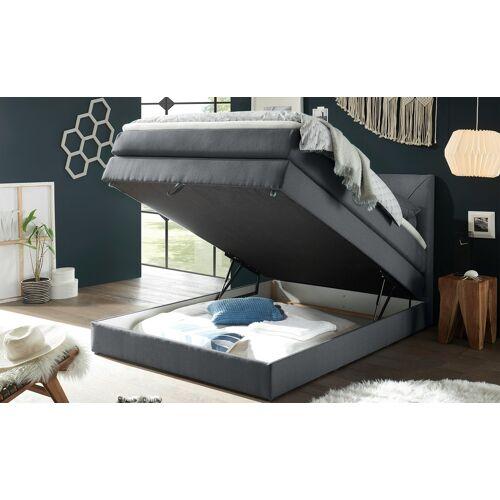 uno Boxspringbett mit Bettkasten - grau - Betten  Boxspringbetten  Boxspringbetten mit Bettkasten - Möbel Kraft