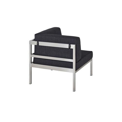 a casa mia Lounge-Gruppe  Wales - grau - Edelstahl - Garten  Gartenmöbel  Gartenmöbel Sets - Möbel Kraft