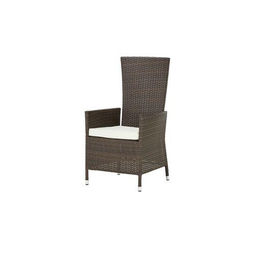 Möbel Kraft Gartenstuhl - braun - Stahl pulverbeschichtet/PE-Geflecht - Garten  Gartenmöbel  Gartenstühle - Möbel Kraft