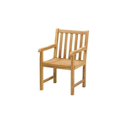 Yorkshire Gartenstuhl  Cambridge - holzfarben - Teakholz - Garten  Gartenmöbel  Gartenstühle - Möbel Kraft