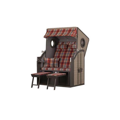 Möbel Kraft Strandkorb - grau - Garten  Gartenmöbel nach Materialien  Polyrattan-Gartenmöbel - Möbel Kraft