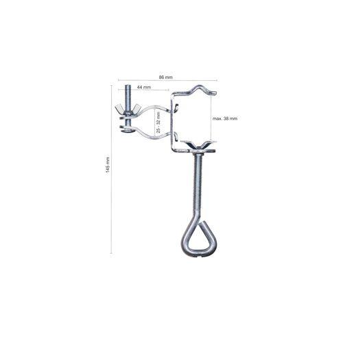 Möbel Kraft Sonnenschirm Tischklammer - silber - Stahl - Garten  Sonnenschutz  Schirmständer - Möbel Kraft