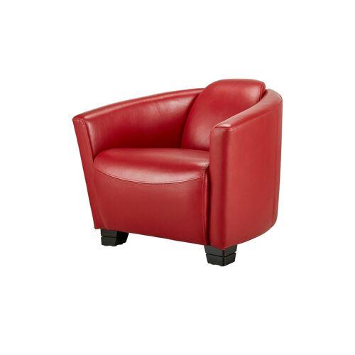 uno Ledersessel - rot - Polstermöbel  Sessel  Ledersessel - Möbel Kraft