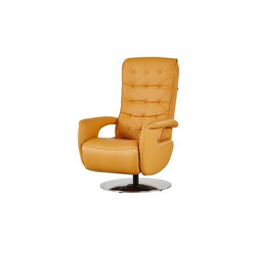Hukla Relaxsessel aus Leder - gelb - Polstermöbel  Sessel  Ledersessel - Möbel Kraft