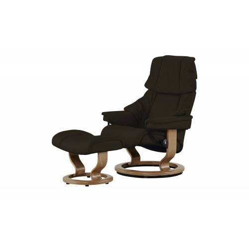 Stressless Relaxsessel mit Hocker  Reno - braun - Polstermöbel  Sessel  Ledersessel - Möbel Kraft