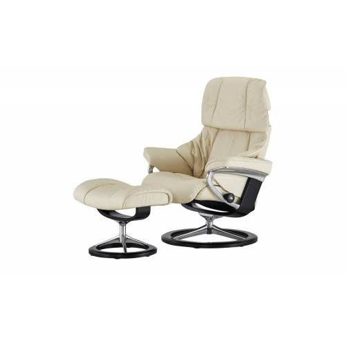 Stressless Relaxsessel mit Hocker  Reno - creme - Polstermöbel  Sessel  Ledersessel - Möbel Kraft