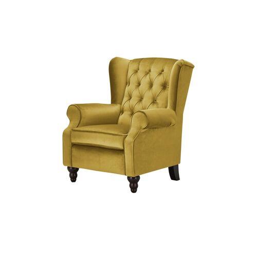 Möbel Kraft Ohrensessel - gelb - Polstermöbel  Sessel  Ohrensessel - Möbel Kraft