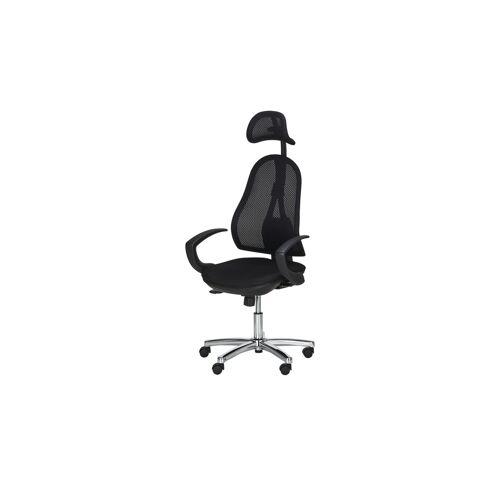 home worx Syncro-Bandscheiben-Drehstuhl  Home Worx Office 45 - schwarz - Stühle  Bürostühle  Drehstühle - Möbel Kraft