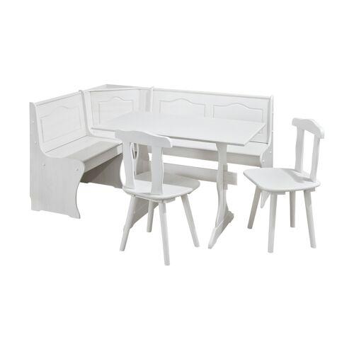 Möbel Kraft Eckbankgruppe, 4-teilig - weiß - Tische  Essgruppen - Möbel Kraft