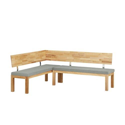 Woodford Eckbank massiv  Melia - grau - Bänke  Eckbänke - Möbel Kraft