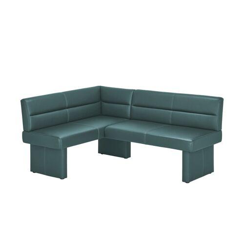 Möbel Kraft Leder-Eckbank - blau - Bänke  Eckbänke - Möbel Kraft